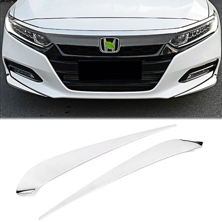 Bumper Protector - Xotic Tech Car Front Bumper Guard Protect Cover Anti Scratch Sticker for Honda Accord 2018 - 2pcs Chrome ABS