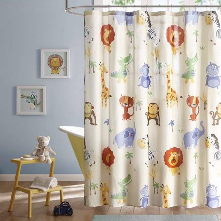 Home Essence Kids Harry Hippo Printed Shower Curtain - Walmart.com