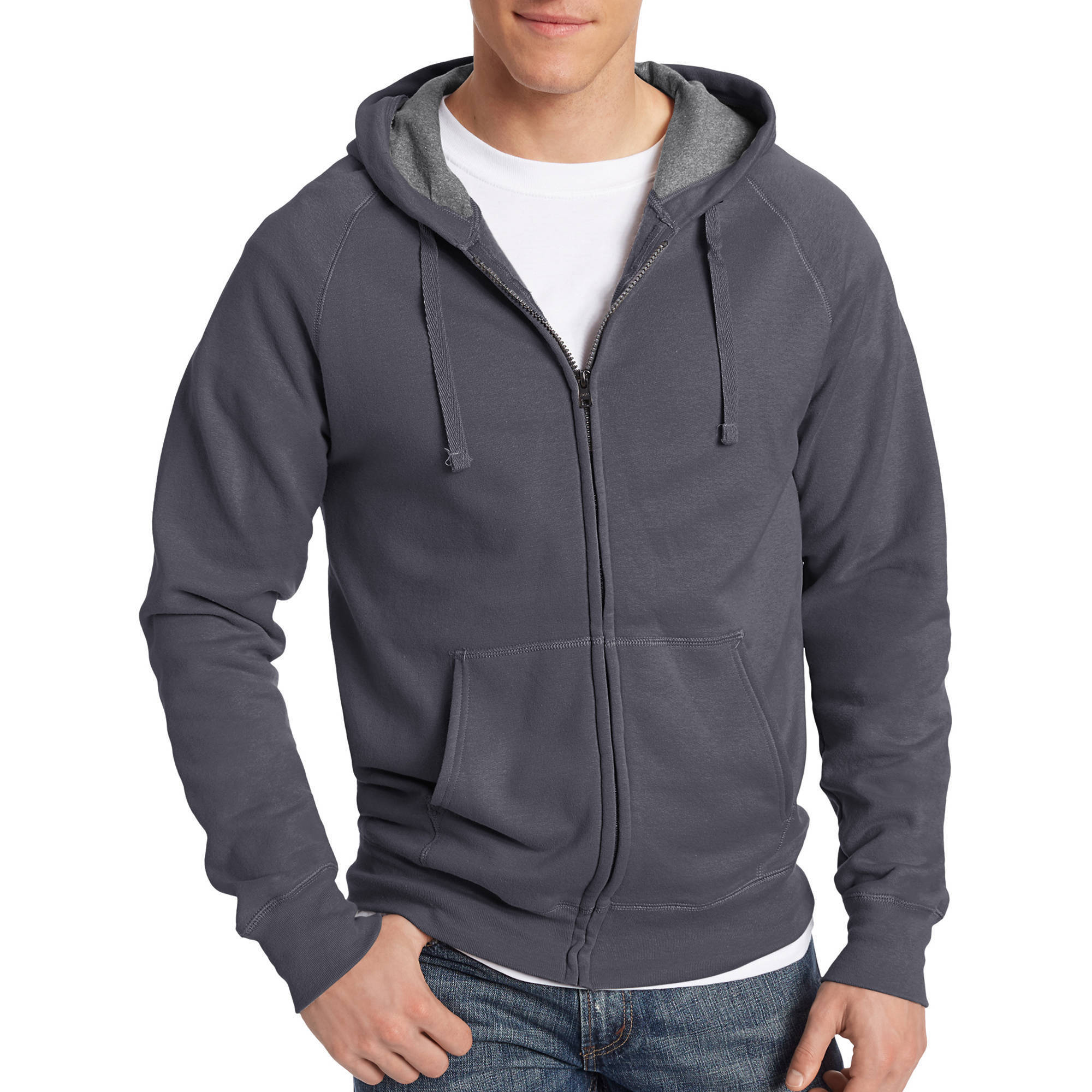 Men's Big Nano Premium Soft Lightweight Fleece Full Zip Hoodie