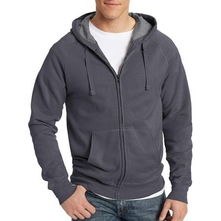 Hanes Mens Big Nano Premium Soft Lightweight Fleece Full Zip Hoodie