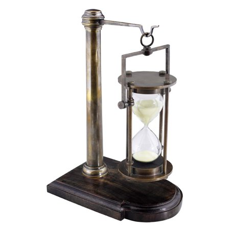 Authentic Models 10H in. Bronzed 30 Minute Hourglass On Stand ()