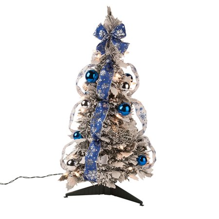 2' Snow Frosted Winter Style Pull-Up Tree by Holiday