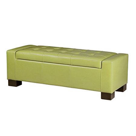 Enjoyable Modhaus Living Modern Retro Faux Leather Upholstered Tufted Top Storage Bench Ottoman With Wood Legs Includes Pen Green Inzonedesignstudio Interior Chair Design Inzonedesignstudiocom