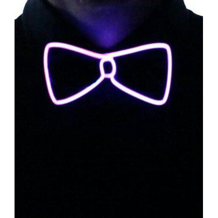 LeadingStar Light Up Bow Tie Purple Light,Bow Tie with Purple LED Lights