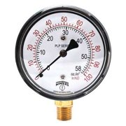 WINTERS Low Pressure Gauge,Bottom,0 to 100in H2 PLP304
