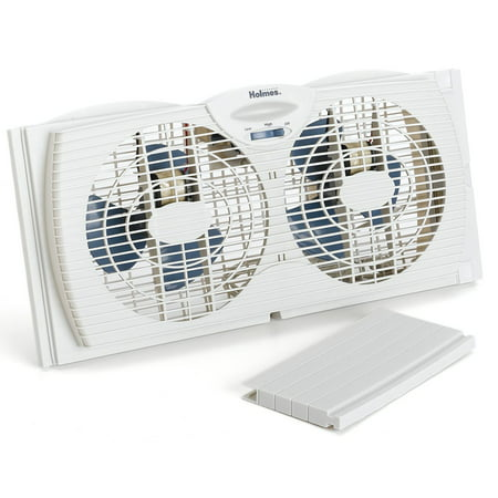 Holmes HAWF2021 Twin Window Fan with Reversible Air Flow Control ()