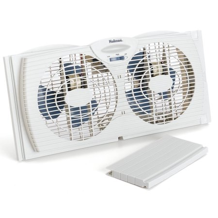 Holmes HAWF2021 Twin Window Fan with Reversible Air Flow Control