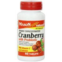 2 Pack - Mason Natural Highly Concentrated Cranberry with Probiotic Tablets 60 ea