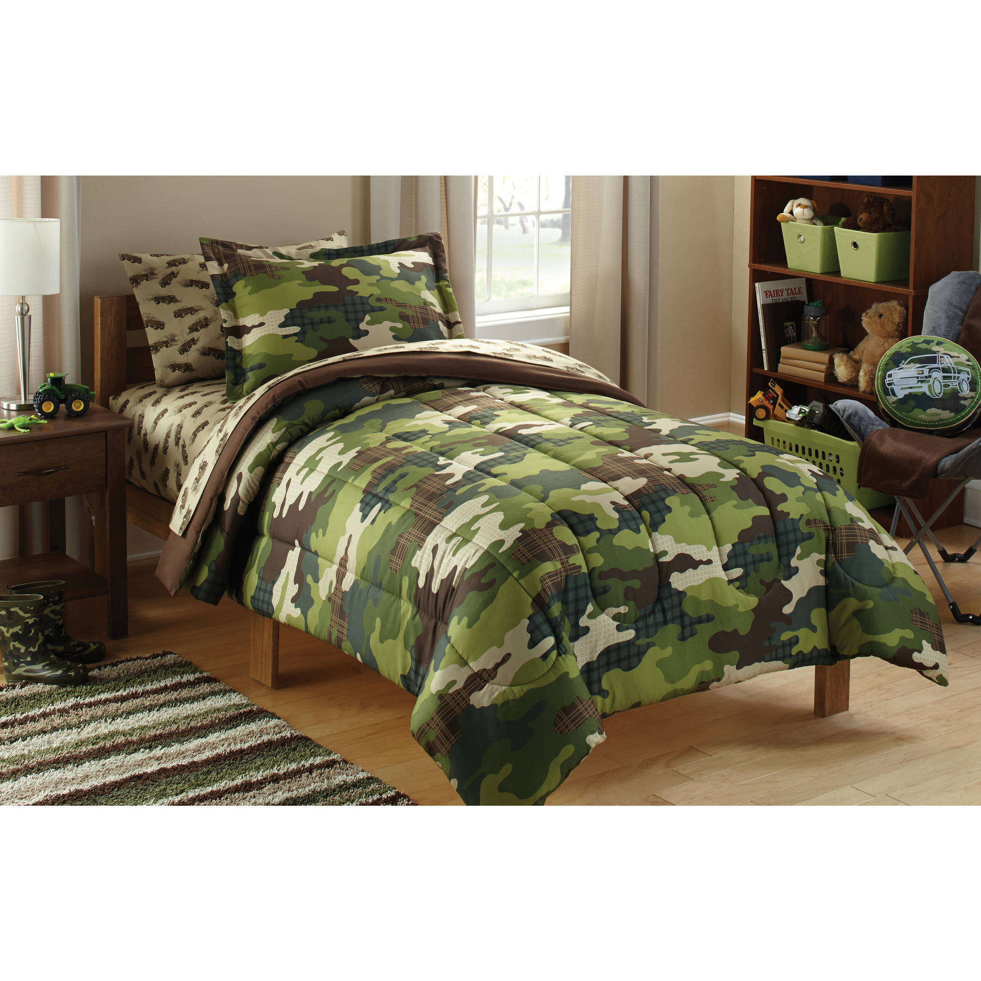 mainstays kids camoflauge coordinated bed in a bag walmartcom - Kid Sheets