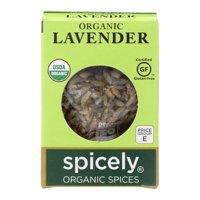Spicely Organics - Organic Lavender - Case of 6 - 0.1 oz.