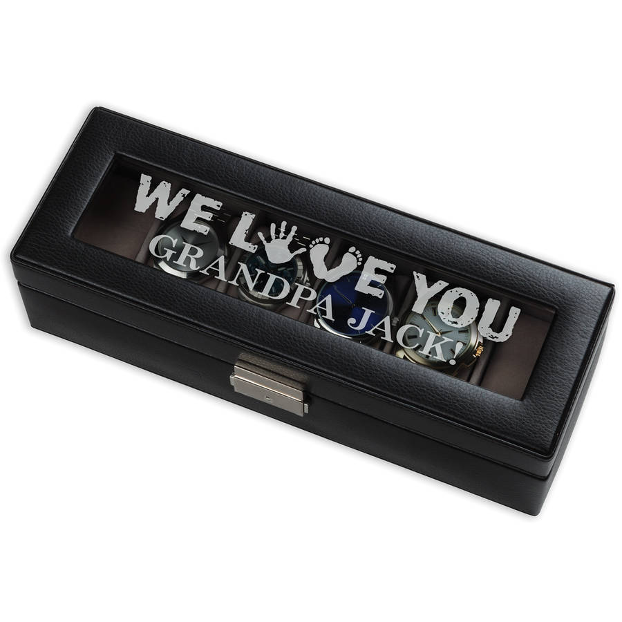 We Love You Personalized 6-Piece Watch Case