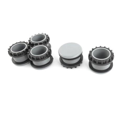 5 Pcs Gray Mount Hole Panel Plug Cap f 22mm Button Switch (Handle Cap Plug Button)