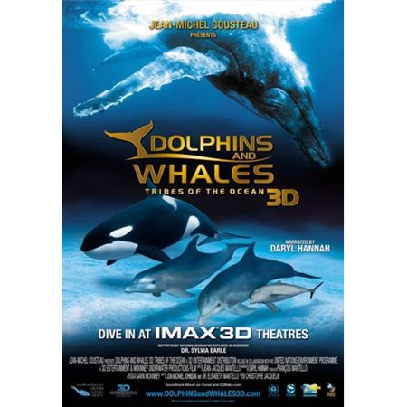 Posterazzi MOVII7817 Dolphins & Whales 3D-Tribes of the Ocean Movie Poster - 27 x 40 in. - image 1 de 1