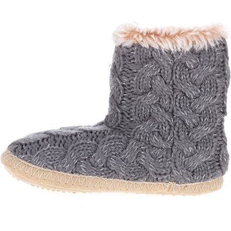 Womens Cable Knit Slipper Boot Walmart