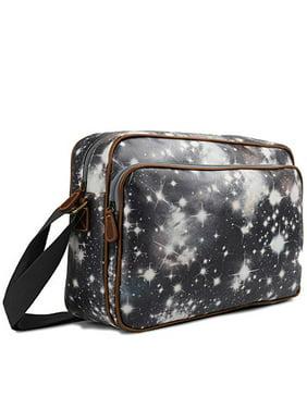 fbe984c045de Product Image Miss Lulu Matte Finish Oilcloth Satchel Messenger Bag  (Universe Black)