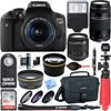 """Canon T6i EOS Rebel DSLR Camera w/ EF-S 18-55mm & 75-300mm III Lens Kit + Accessory Bundle 32GB SDHC Memory + SLR Photo Bag + Wide Angle Lens + 2x Telephoto Lens + Flash + Remote + Tripod & More """" 24.2 Megapixel CMOS Sensor EOS Full HD Movie Built-in Wi-Fi & NFC Authorized Canon Dealer USA Warranty Wireless Takes EOS Rebel to The Next Level For gorgeous, high-quality photos and videos that are easy to share, look to the Canon EOS Rebel T6i camera. The EOS Rebel T6i does more, easier, making capturing photos and shooting videos a breeze. Its high-resolution 24.2 Megapixel CMOS (APS-C) sensor means finely detailed, crisp and natural-looking photographs. An updated light-metering system means well-exposed images. HD videos are effortless with the EOS Rebel T6i's advanced AF that provides speedy and precise focus on subjects. Canon's advanced EOS Scene Analysis system automatically adjusts the camera's settings to produce the best results whether shooting friends, landscapes, sports scenes and in tricky light situations. A first ever for the EOS Rebel line, built-in Wi-Fi and NFC are now available! Wireless connectivity provides a seamless way to exchange images and movies with compatible devices. It's easier and more convenient than ever to share movies and photos, no matter the location. Near Field Communication (NFC) allows for easy pairing with compatible Android devices and Canon's new Connect Station CS100 device! With fast performance in a number of shooting environments, the EOS Rebel T6i does the hard work, letting you focus on making gorgeous photos and HD movies. 24.2 Megapixel (APS-C) CMOS sensor The EOS Rebel T6i camera has a next-generation 24.2 Megapixel CMOS (APS-C) sensor that can capture images of incredible depth and beauty. With high resolution and an ISO sensitivity of ISO 10012800 (expandable to H: 25600) the EOS Rebel T6i can capture images of immense quality in more lighting situations. Advanced technologies combined with sophisticated automatic """