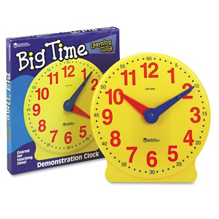 Learning Resources Big Time Learning Clocks 12-Hour Demonstration ...