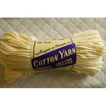 Lily Sugar n Cream Cotton Knitting and Crochet Yarn  100 Cotton  Cream Color