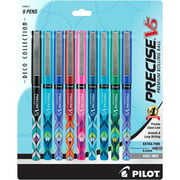 Pilot Precise V5 Deco Collection Pens, Extra Fine Point (0.5 mm), Assorted Ink, 9 Count 103830242