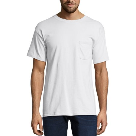 b7004645 Hanes - Men's Premium Beefy-T Short Sleeve T-Shirt With Pocket, Up to Size  3XL - Walmart.com