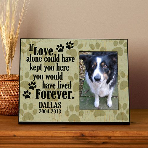 Personalized Love Alone Pet Memorial 8x10 Frame