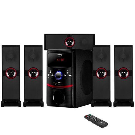 Frisby FS-5090BT 5.1 Surround Sound Home Theater Speakers System with Bluetooth USB/SD &