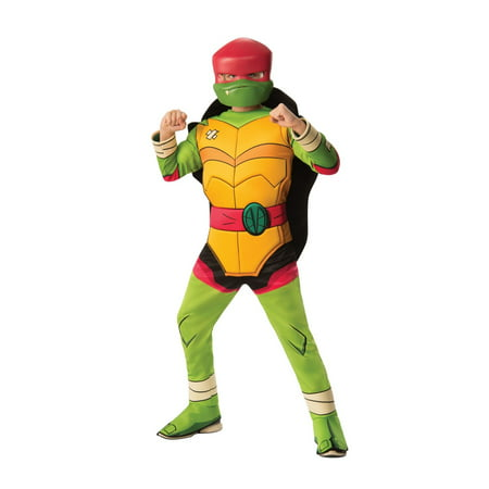Halloween Rise of Teenage Mutant Ninja Turtles Deluxe Raphael Child Costume - Mens Turtle Costume