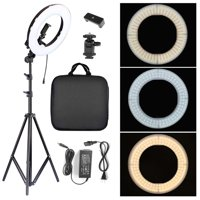 "14"" 180pcs LED Ring Light w/ Stand Dimmable 5500K Photo Video Studio LED Light for Camera iPhone"