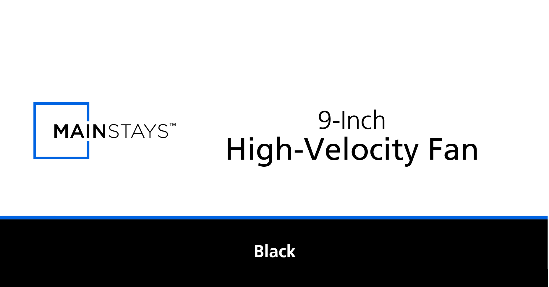 Mainstays 9 High Velocity 3 Speed Fan Model Mf Black Over Ride Switch
