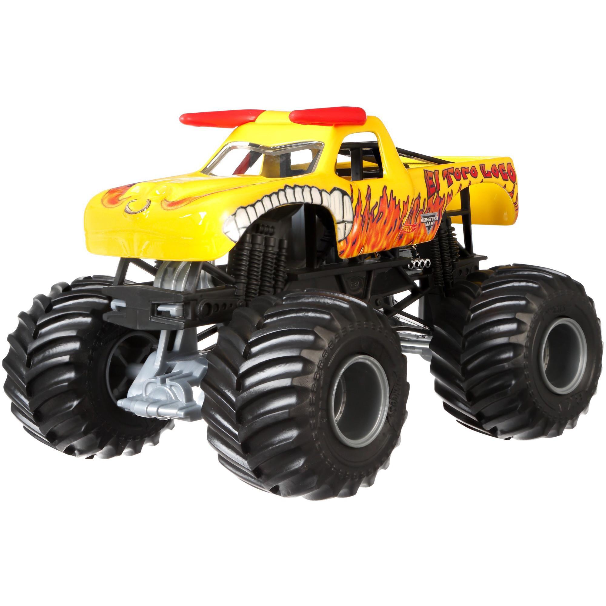 Hot Wheels Monster Jam 1:24 Scale El Toro Loco Vehicle, Yellow by Mattel