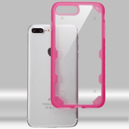 Insten Hard TPU Cover Case For Apple iPhone 7 Plus - Clear/Hot Pink - image 9 of 9