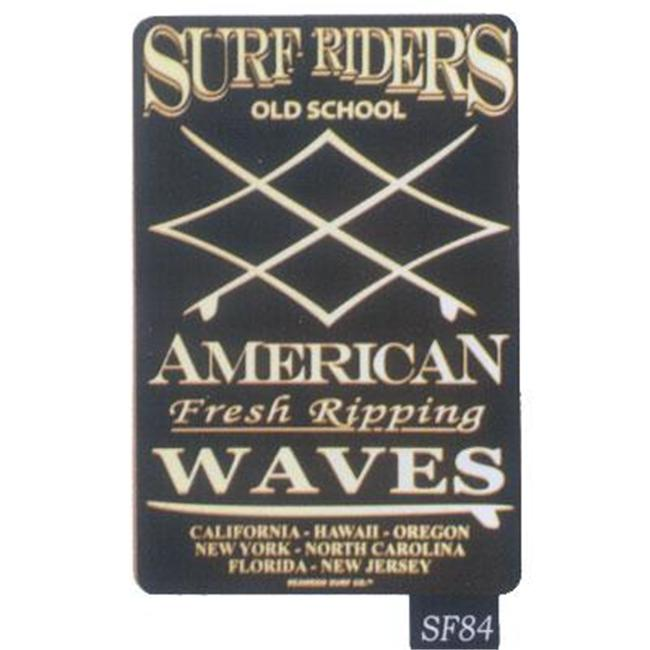 Seaweed Surf Co SF84 12X18 Aluminum Sign Surf Riders
