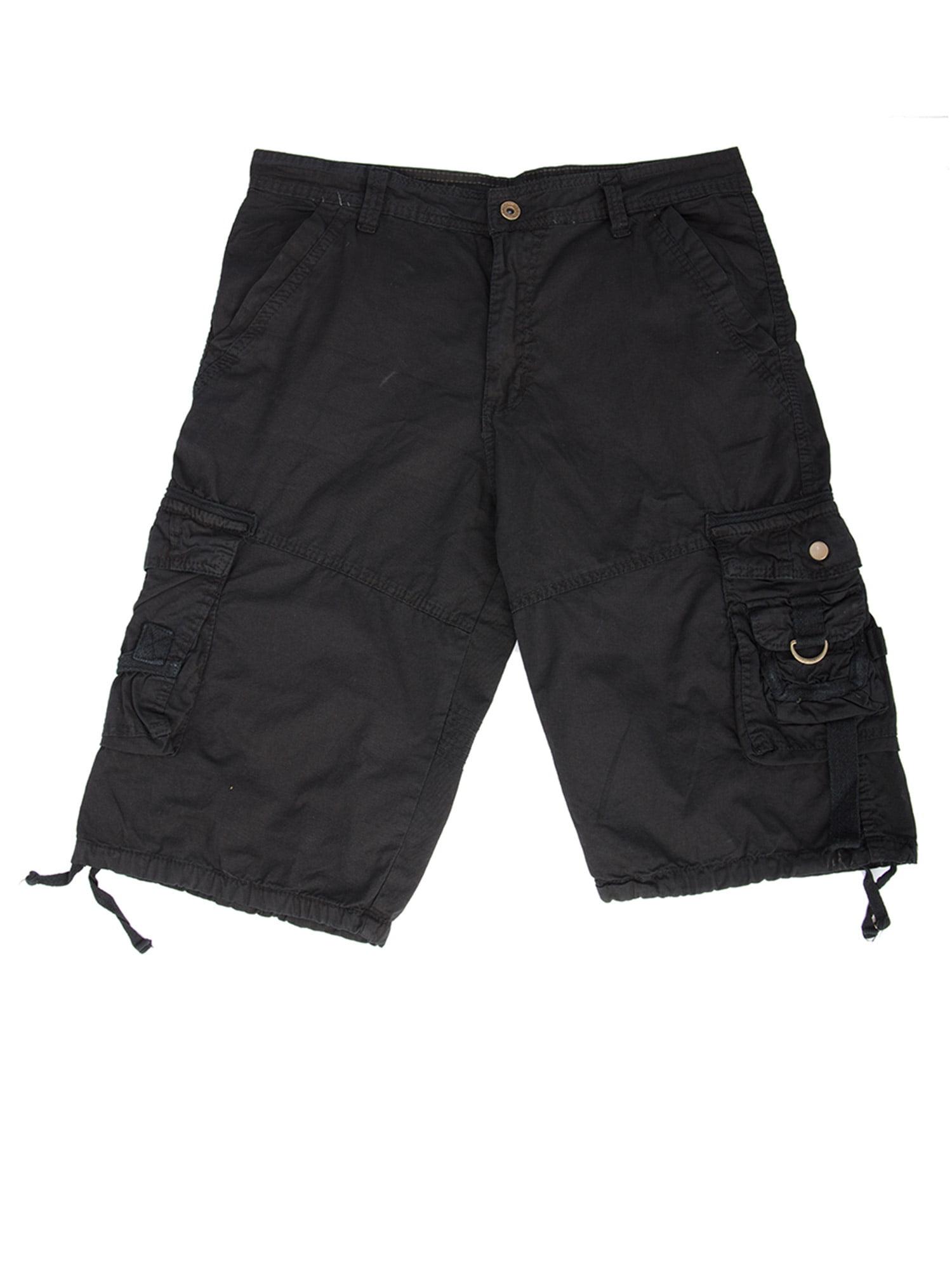 SAYFUT Men's Vintage Paratrooper Style Cotton Cargo Short  Pockets Baggy Cargo Pant Black/Gray/Khaki