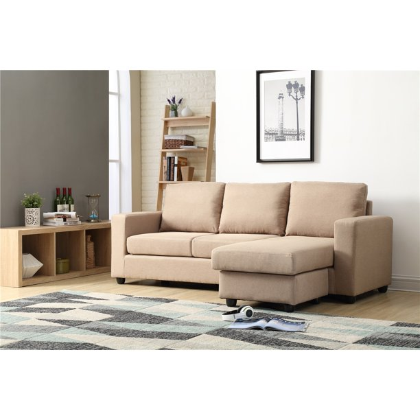 Nathaniel Home Alexandra Small Space Convertible Sectional, Multiple Colors