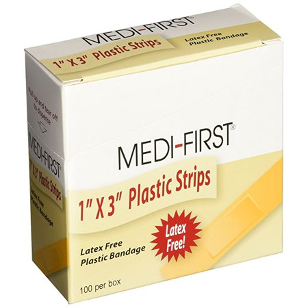 Strip Plastic Bandages (Medi-First Plastic Strip Bandage 1-Inch by 3-Inch 400 Count)