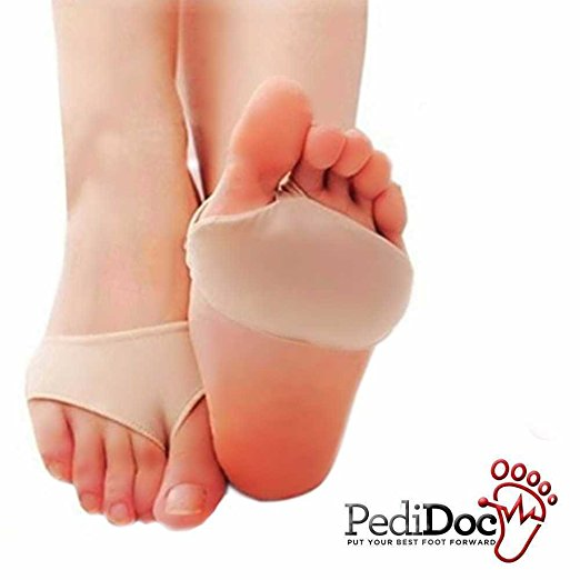 Pedidoc (TM) Metatarsal Pads Ball of Foot Cushions Foot Support Gel Sleeves for Forefoot Pain Relief and Support ? Prevent Calluses and Blisters Absorbs Shock ? For Sports and Daily Comfort (1 Pair)