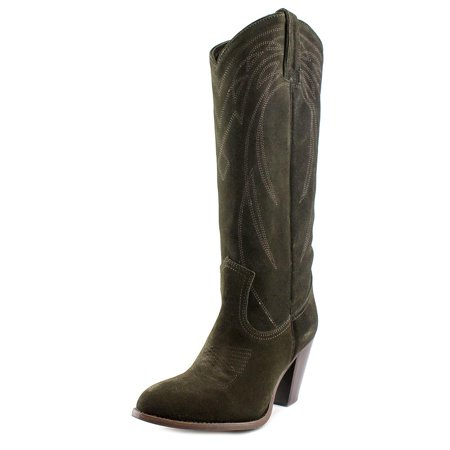 Frye Ilana Pull On Women  Round Toe Suede Green Western Boot