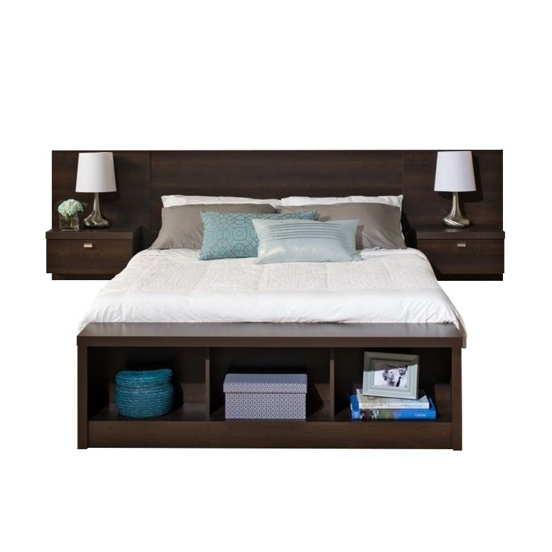 Bowery Hill Queen Platform Storage Bed with Floating Headboard