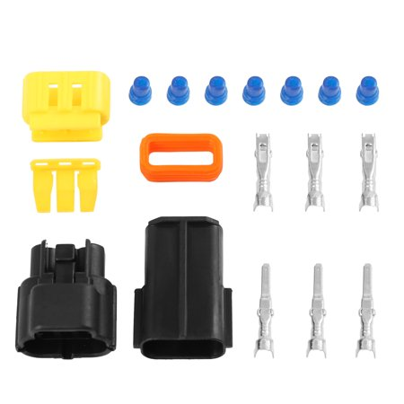 3 Pins Way Car Waterproof Electrical Connector Sockets Automotive Terminal Set