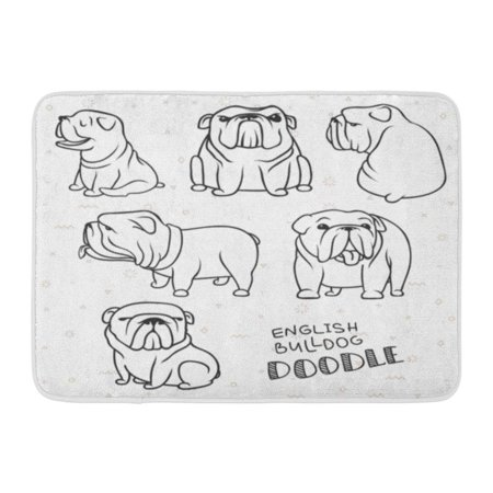Godpok Profile Outline Dogs Characters Doodle Sticker English
