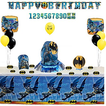 Batman  Party Supplies Birthday Party Banner, Table and Balloon Decoration - Birthday Table Decoration Ideas