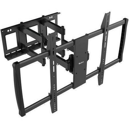 "QualGear Heavy-Duty Full Motion TV Wall Mount for Most 60""-100"" Flat Panel and Curved TVs, Black by"
