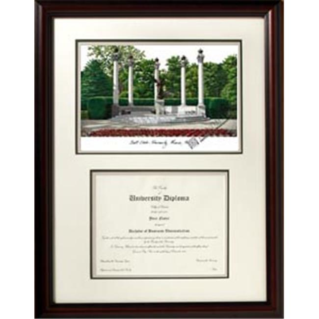 Campus Images IN985V Ball State University ''Scholar'' Lithograph and Diploma Frame