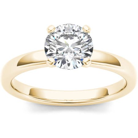 1 Carat T.W. Diamond Solitaire 14kt Yellow Gold Engagement Ring