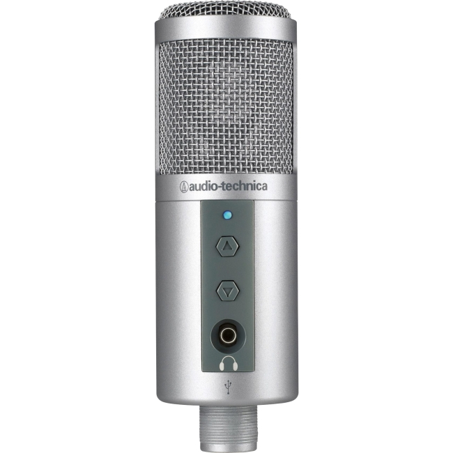 Audio-Technica ATR2500-USB Microphone 30 Hz to 15 kHz Wired Condenser Stand Mountable USB by Audio-Technica U.S., Inc