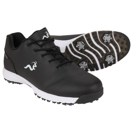 Black Classic Golf Shoe (Woodworm Tour V3 Mens Waterproof Golf Shoes)