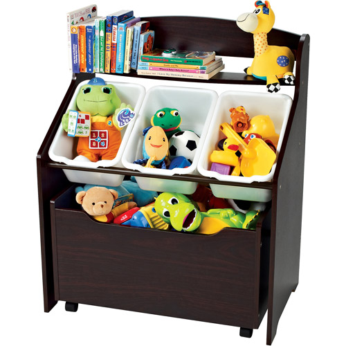 Tot Tutors 3-Tier Storage Unit with Rollout Toy Box
