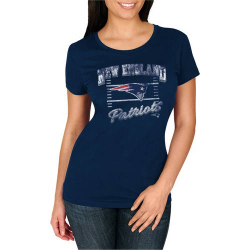 NFL New England Patriots Women's Deep Crew Neck Tee