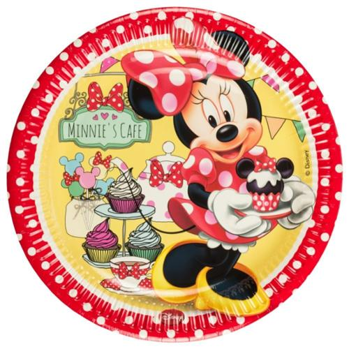Minnie Cafe Paper Luncheon Plates (8 Pack) - Party Supplies