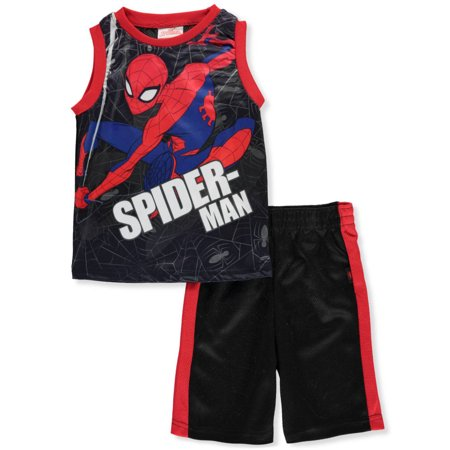 Marvel Spider-Man Boys' 2-Piece Shorts Set Outfit